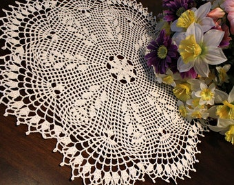 Beautiful Wheat  Crochet Doily