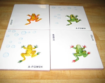 Frog 3D Antiqua Handmade 4x4 Tiles #304