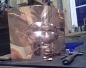 Copper Sculpture Lips