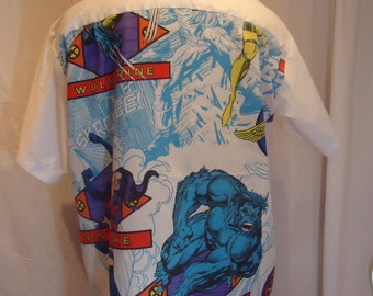 X-Men: The Beast and Psylocke, Men's Size 2XL