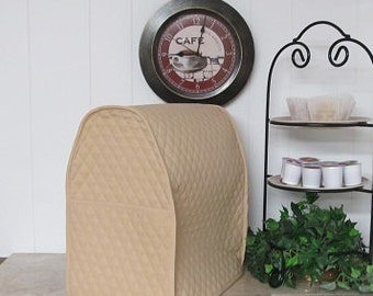 Tan Quilted Mixer Cover with Pocket Made To Order