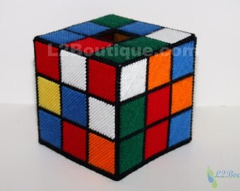The ORIGINAL & BEST SELLING Rubik's Cube Tissue Box Cover as seen on tv The Big Bang Theory Solvable Version