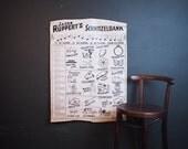 1907 German Beer Drinking Song Poster / Jacob Rupperts Schnitzelbank Poster / Antique German Poster