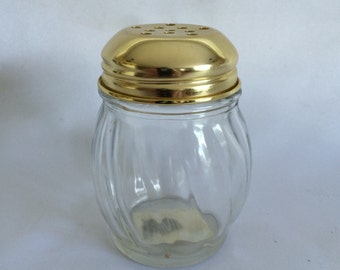 Vintage Glass Cheese Shaker
