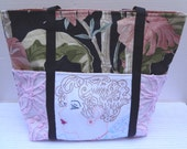 Lady's Tote / Vintage Embroidered Market Bag