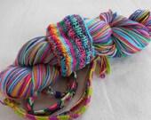 Friendship Bracelets Self-striping Superwash Merino and Nylon Sock Yarn