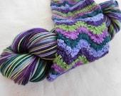 Lupine Self-Striping Superwash Merino and Nylon Blend Fingering Weight Sock Yarn