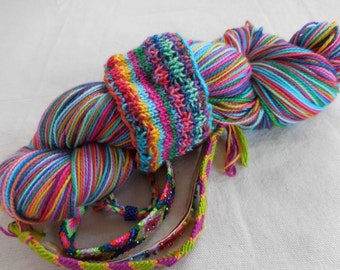 Friendship Bracelets Self-striping Superwash Merino and Nylon Sock Yarn