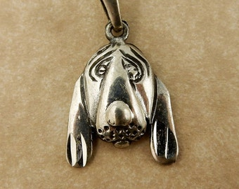 Sterling Silver Hound Dog Pendant with bail