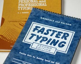 VINTAGE Typing Books (2) ... Collectible Spiral Bound and Hardbound Books