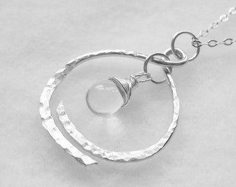Memorial Remembrance Necklace in Sterling Silver - Loss Memorial Necklace