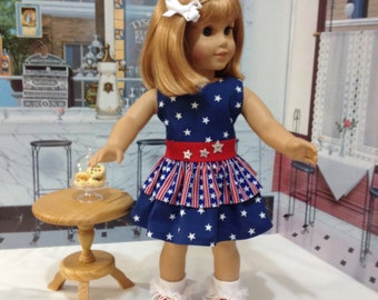 "ON Sale AG patriotic dress ""Stars and Stripes""  fits American girl and other similar 18 inch dolls"