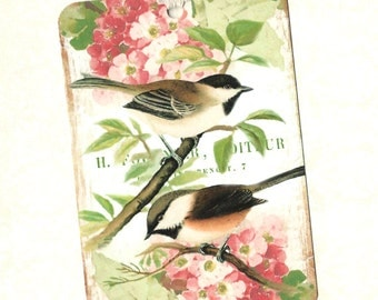 Tags, Chickadee Tags, Bird Lover, Gift Tags, Birds & Flowers, Party Favors