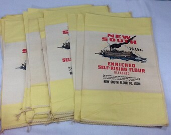 Wonderful Yellow New South Flour Sacks - Unopened