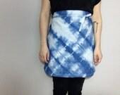 handmade indigo dyed half apron