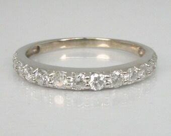 Vintage Diamond Wedding Band - Vintage - 13 Diamonds - 0.48 Carats
