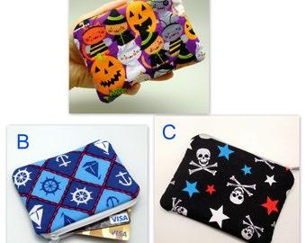BIG SALE - Small zipper pouch / coin purse /ear phone bag/ card holder (padded) (GP9)