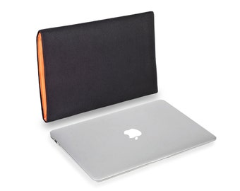 Apple MacBook Pro Touch Bar in Black Cordura Orange Lumo Microfibre Lining to fit 13 and 15 inch