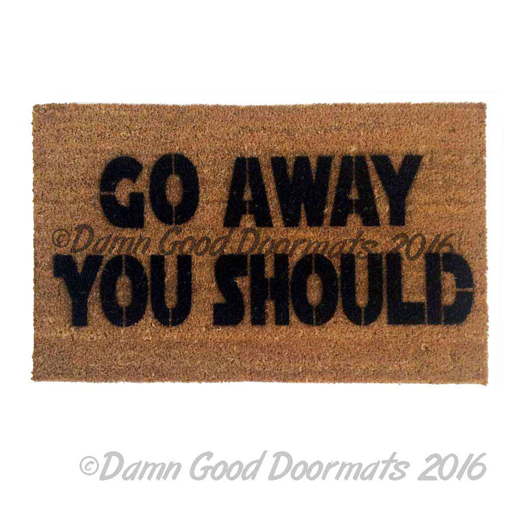 Go away you should doormat geek stuff fan art by damngooddoormats - Geeky welcome mats ...