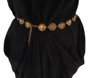 Vintage Coins Chanel Belt