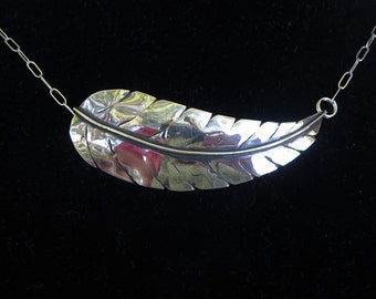 Modern Native American Leaf/ Feather Necklace