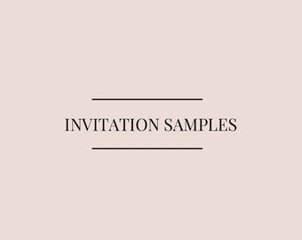 invitation sample pack
