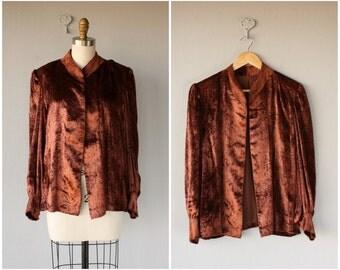 Vintage Nolan Miller Jacket | 1980s does 1940s Silk Velvet Jacket | 80s does 40s Jacket | 1940s Velvet Jacket | 40s Vintage