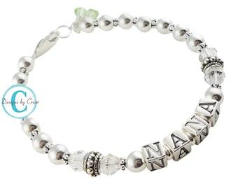 Sterling silver Nana Grandma Bracelet - beautiful & elegant