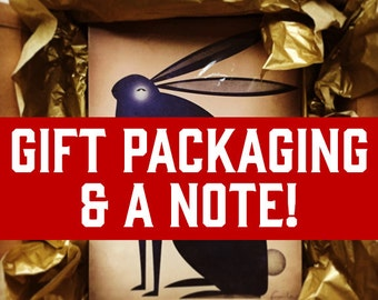 Note + Gift Packaging /// GOLD TISSUE + Personalized Note