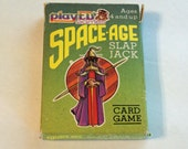 SpaceAge Slap Jack Card Game 1984 by playED games Vintage Kids Game 7019 space age