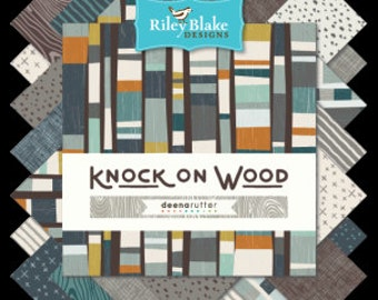 "Knock on Wood  42 10"" Stacker Squares precuts Layer Cake  by Riley Blake 100% cotton fabric for quilting"