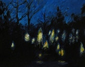 Solstice Night - original painting by Kellie Marian Hill