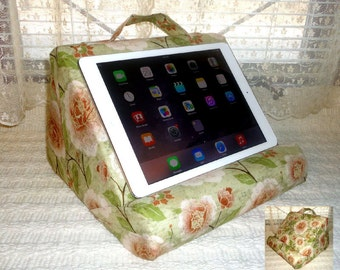Padded Ipad or Book Stand For Your Lap  / Read For Hours and Your Item Never Wobbles
