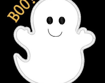 Halloween Boo Ghost Machine Embroidery Applique Design