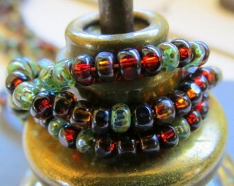 BACK In Stock VENETIAN MIX .  Czech Picasso Tri-Cut Beads . size 6/0  ( 50+ beads)