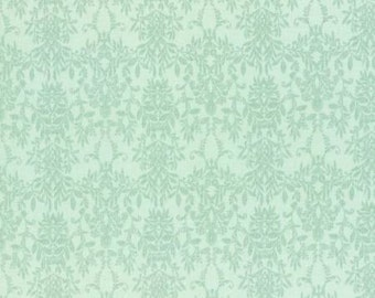 Rococo Sweet 2016  Aqua Damask Cotton Fabric Lecien 31364-60