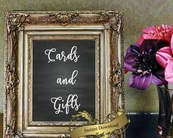 Wedding sign gifts and Cards in 8x10  Digital download