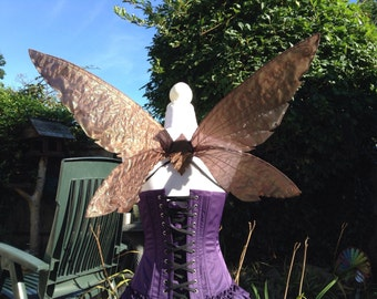 OOAK brown woodland pixie fairy wings.