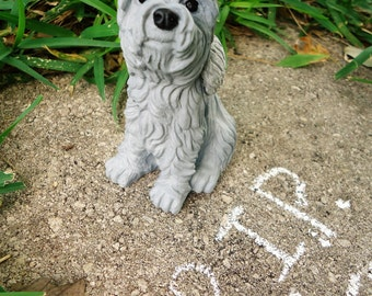 Concrete Memorial Terrier Dog Breed Garden Statue Yard sculpture