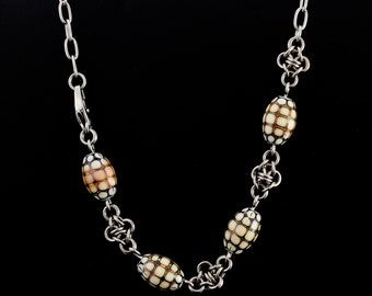 Brendan Necklace - Stainless Steel Chain with Mood Beads