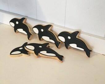 Killer Whale sugar cookies