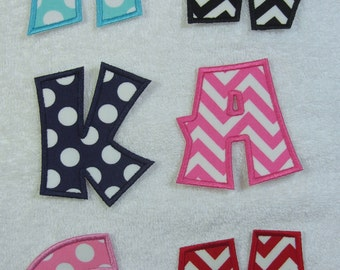 3 Inch Cricket Letters Fabric Embroidered Iron On Applique Patch MADE TO ORDER