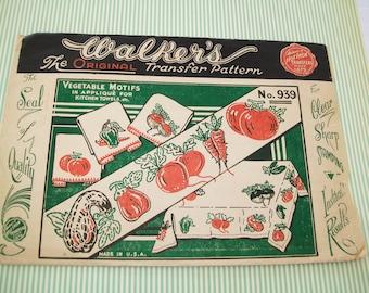 SALE-Walker's Transfer Pattern Package, 1940s