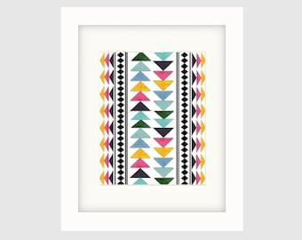 Instant Download Printable Art, Original Art, Graphic Art, Contemporary Wall Art, Boho Style Print No. 2, Colorful Wall Decor