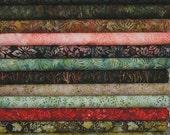 Robert Kaufman Batiks, Northwoods! Artisan Batiks  12 Fat Quarter Bundle Pre-Cuts!  Fat Quarter Batik Sampler--100% Cotton