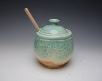 Handmade Porcelain Honeypot  / Sugar Bowl