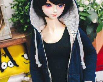 SD13 Girl Hood Zipup - Navy