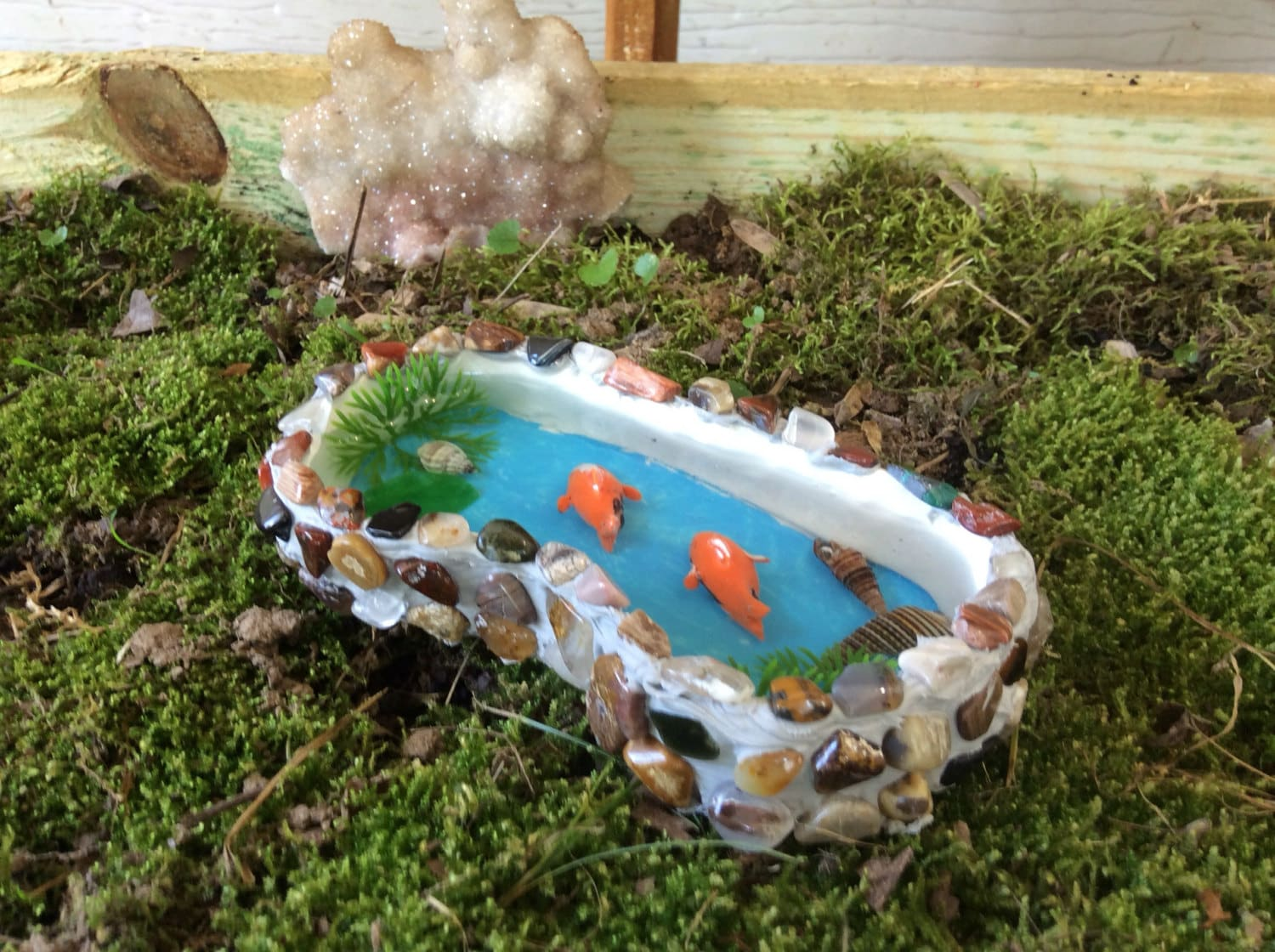 Fairy Garden Pond Gnome Garden Accessory Unique Fairy Garden