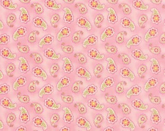 Paisley in Rose  COLETTE by Chez Moi ... Pink colorway ...choose your cut Moda 33053 11