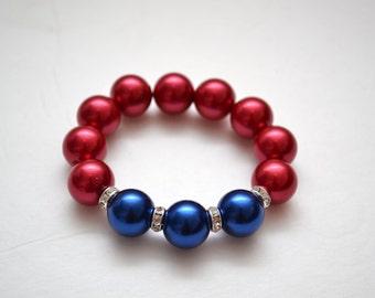 Clearance: Patriotic Stretch Bracelet